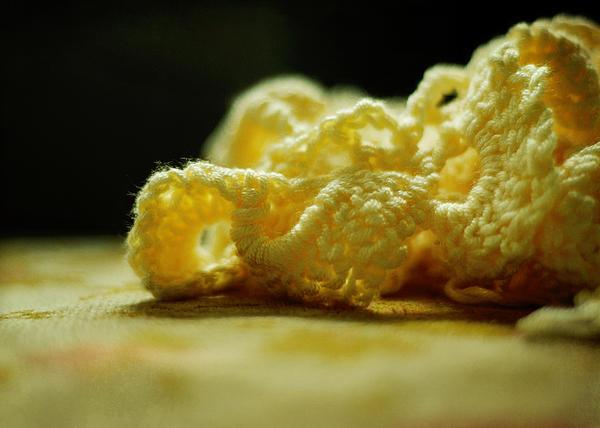 Crocheted Sunshine Print by Rebecca Sherman
