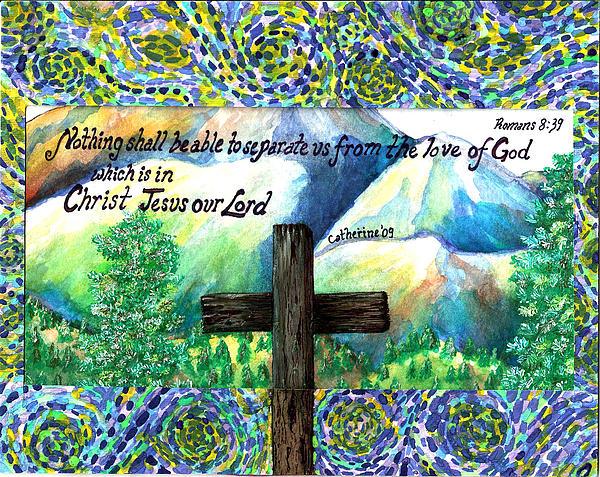 Cross Print by Catherine Saldana