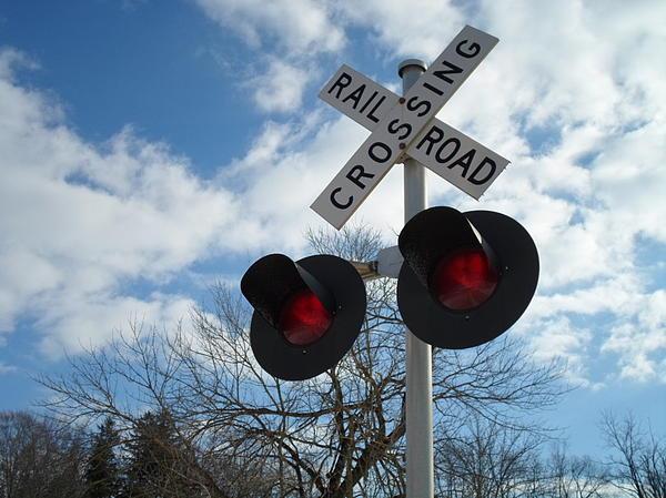 Cross The Railroad Print by Jenna Mengersen