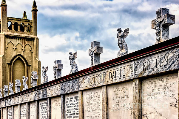 Crosses And Angels Print by Kathleen K Parker