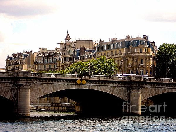 Crossing The Seine Print by Lauren Hunter