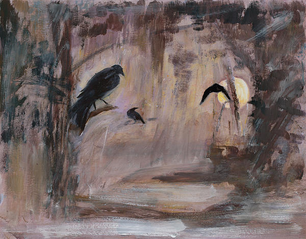 Crow Moon Print by Ethel Vrana
