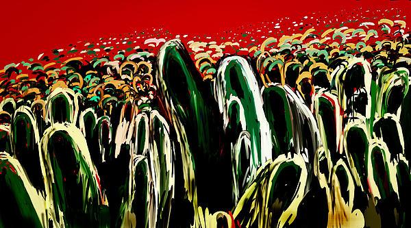 Crowds Print by Vandana Rajesh