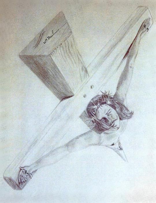 Crucified Print by William  Paul Marlette