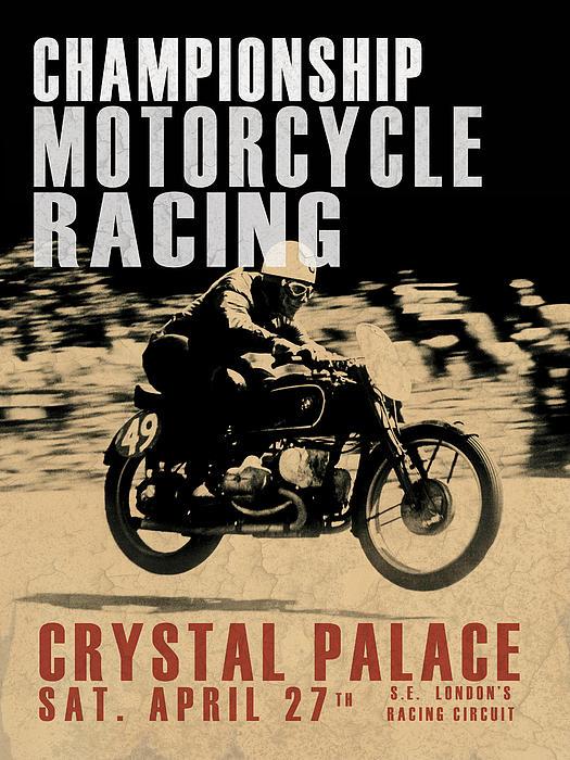Crystal Palace Motorcycle Racing Print by Mark Rogan
