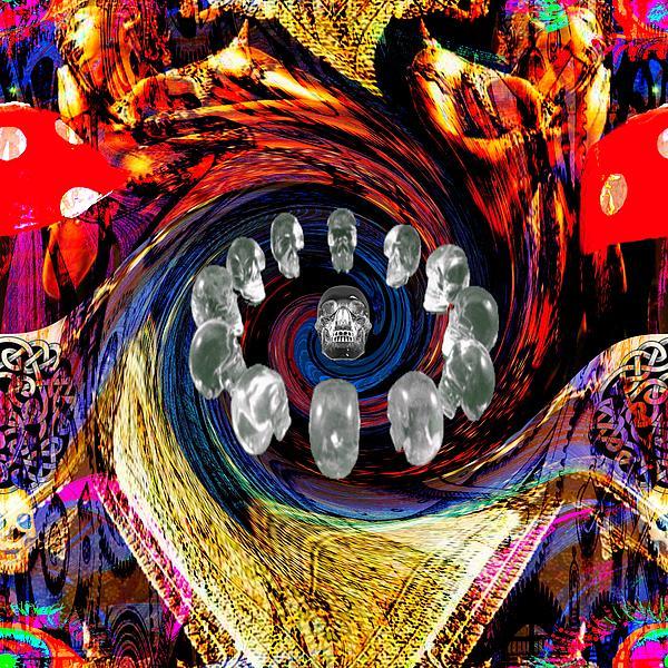 Crystal Skulls Print by Jason Saunders