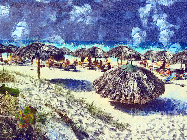Cuban Beach Print by Odon Czintos
