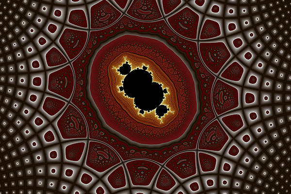 Cubic In Deformed Grid Print by Mark Eggleston
