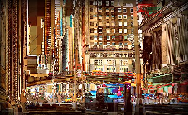 Grand Central And 42nd St Print by Miriam Danar