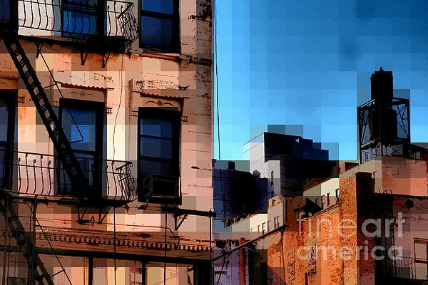 Up On The Roof Print by Miriam Danar