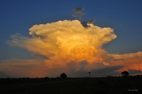 Karen Slagle - Cumulonimbus Over Texas