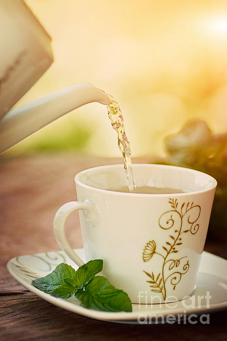 Cup Of Tea Print by Mythja  Photography