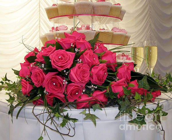 Cupcakes And Roses Print by Terri  Waters