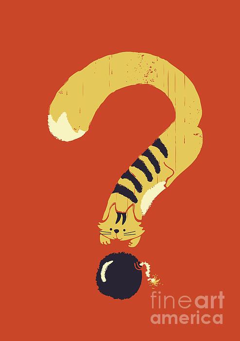 Curiosity Kills Print by Budi Kwan