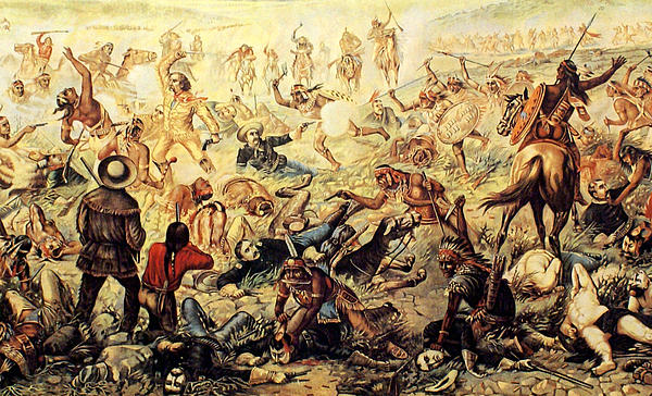Custer's Last Fight Detail Print by Unknown