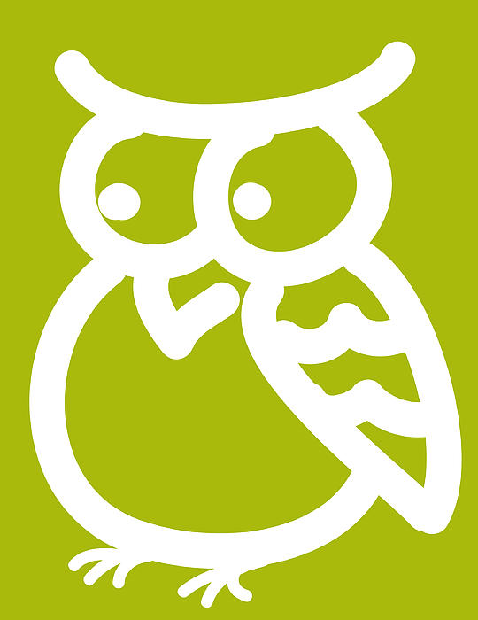 Cute Owl Nursery Print Print by Nursery Art