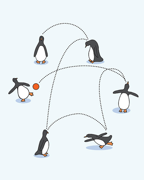 Cute Penguin Art Print by Christy Beckwith