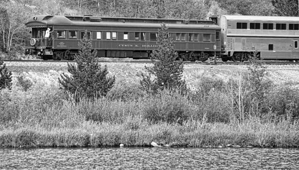 Cyrus K  Holliday Private Rail Car Bw Print by James BO  Insogna
