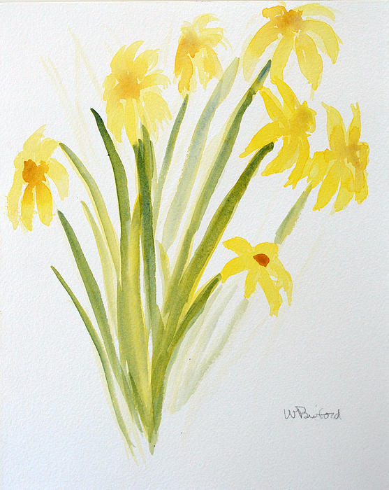 Daffodils For Mothers Day Print by Wade Binford