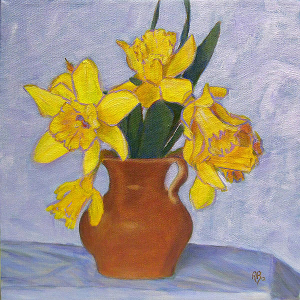 Daffodils Print by Robie Benve