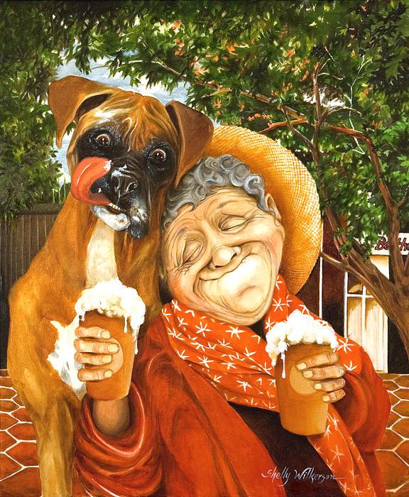 Daisy's Mocha Latte Print by Shelly Wilkerson