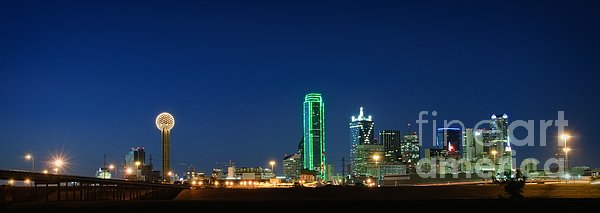 Dallas Skyline Print by Charles Dobbs