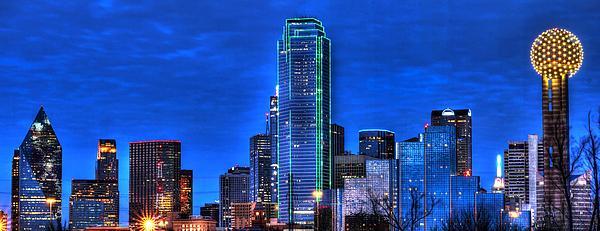 Dallas Skyline Hd Print by Jonathan Davison