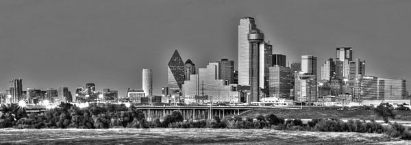 Dallas The New Gotham City  Print by Jonathan Davison
