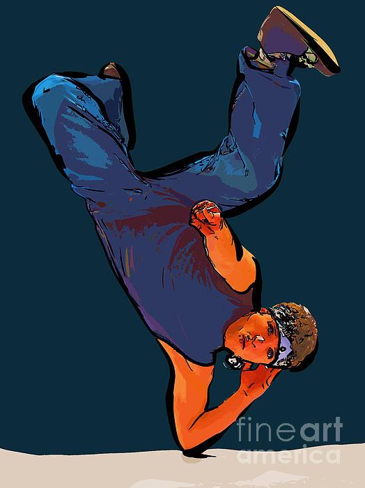 Dance Art Dancer 23 Print by College Town