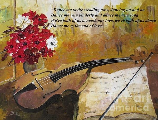 Dance Me To The End Of Love_dedicated To Leonard Cohen Print by AmaS Art