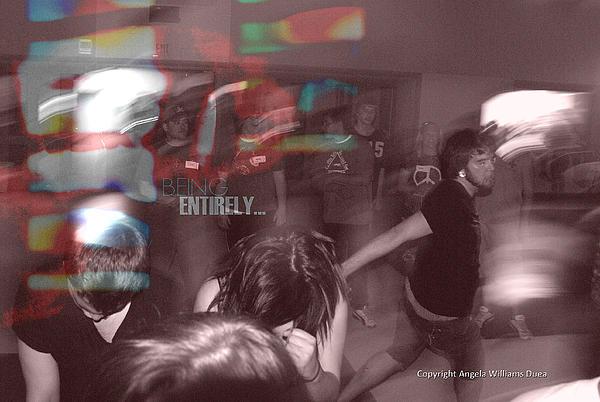 Dance Swirl Print by Angela Williams Duea