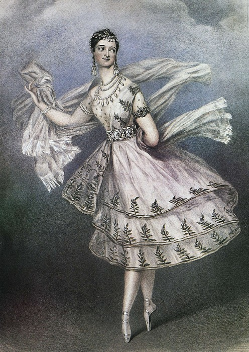 Dancer Maria Taglioni In The Ballet Le Print by Everett