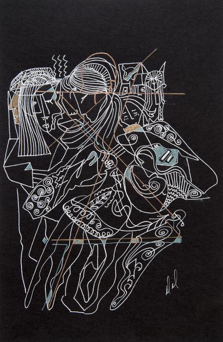 Dancers Print by Dennis Davis