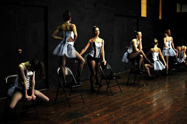 Dancers On Stage Print by Jon Van Gilder