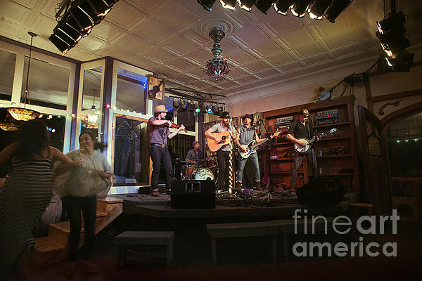 Dancing At The Purple Fiddle With Bryan Elijah Smith And The Wild Heart Band Print by Dan Friend