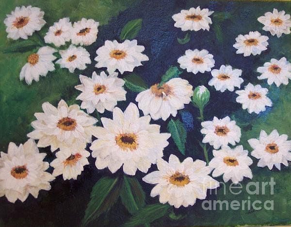 Dancing Dasies Print by Lucia Grilletto