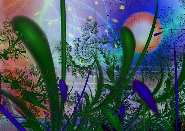 Dancing Fireflies Print by Faye Giblin
