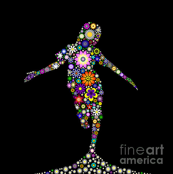 Dancing Flower Girl  Print by Tim Gainey
