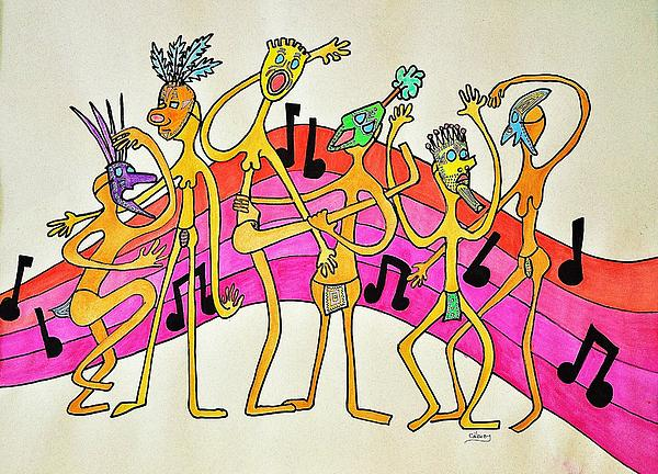 Dancing Happy People Print by Glenn Calloway