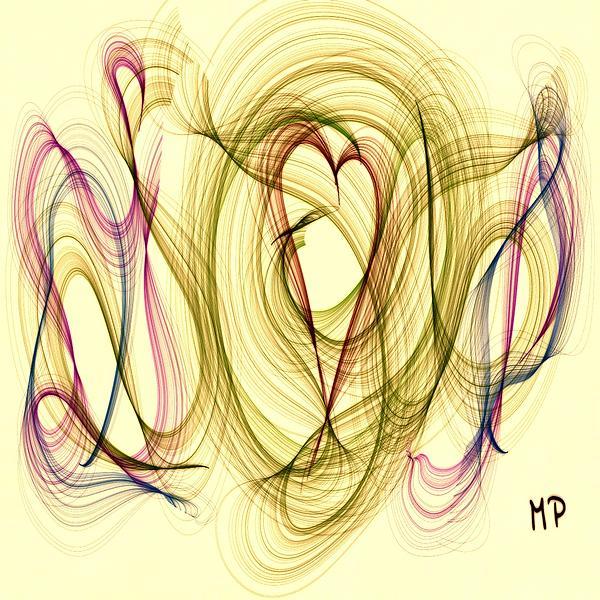 Dancing Heart Print by Marian Palucci