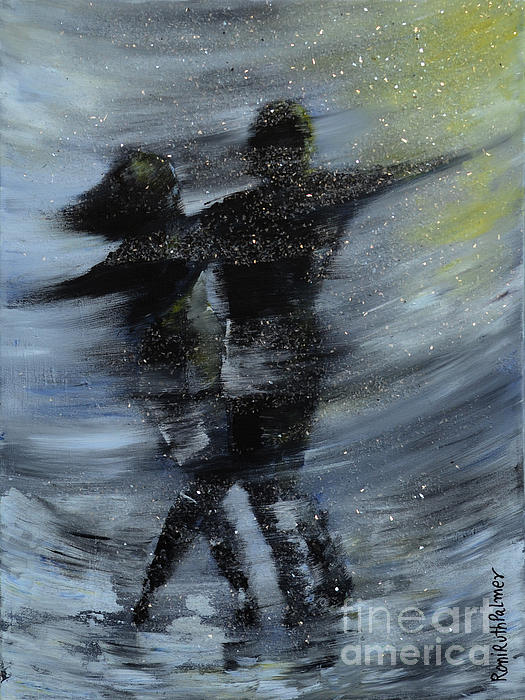 Dancing In The Night Print by Roni Ruth Palmer