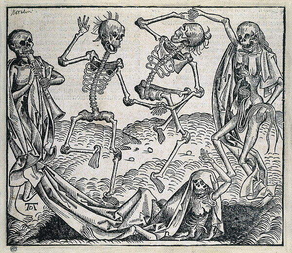 Danse Macabre Or Dance Of Death 1493 Print by Everett