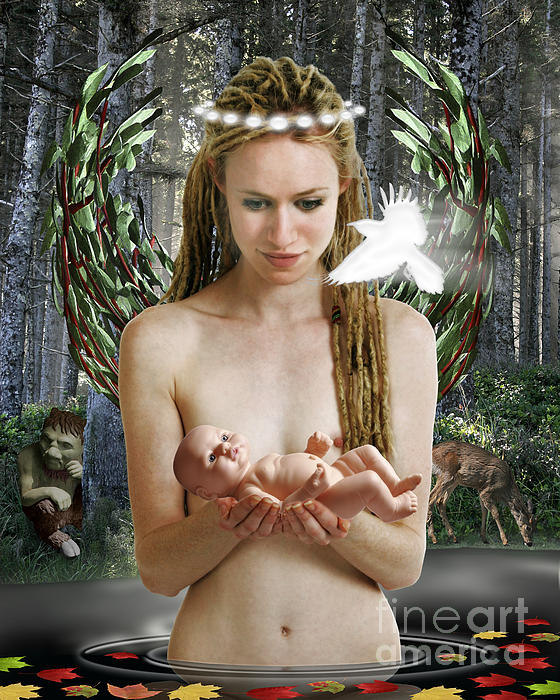 Danu Mother Goddess Print by Keith Dillon