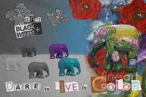 Dare To Live In Color Print by Nola Lee Kelsey