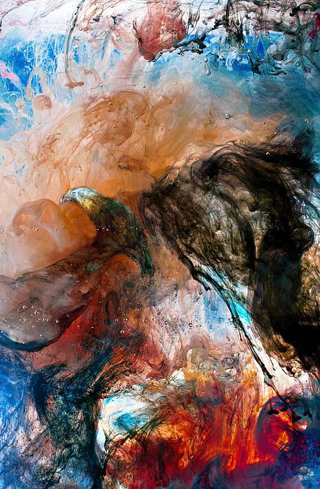 Dark Angel Print by Petros Yiannakas