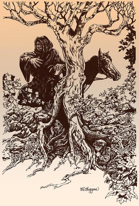 Dark Rider-tolkien Appreciation Print by Derrick Higgins