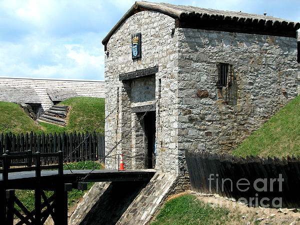 Dauphin Battery And Gate Of The Five Nations Old Fort Niagara 2 Print by Rose Santuci-Sofranko