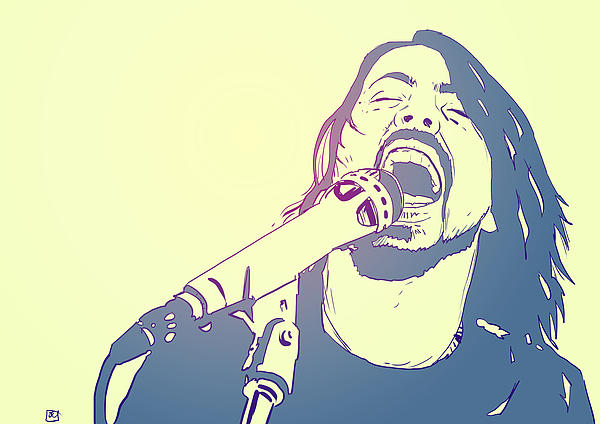 Dave Grohl Print by Giuseppe Cristiano