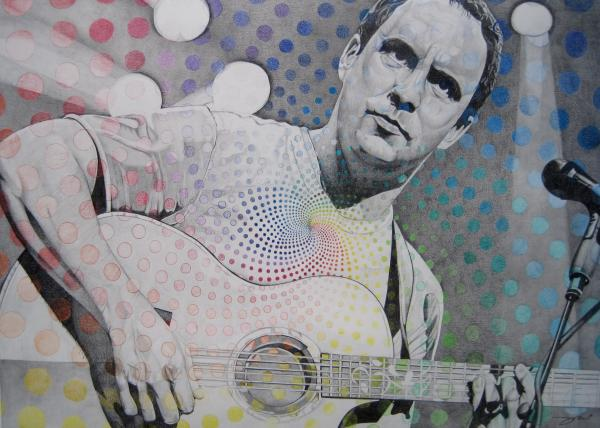 Dave Matthews All The Colors Mix Together Print by Joshua Morton