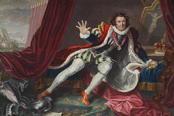 David As Richard IIi, Illustration Print by William Hogarth